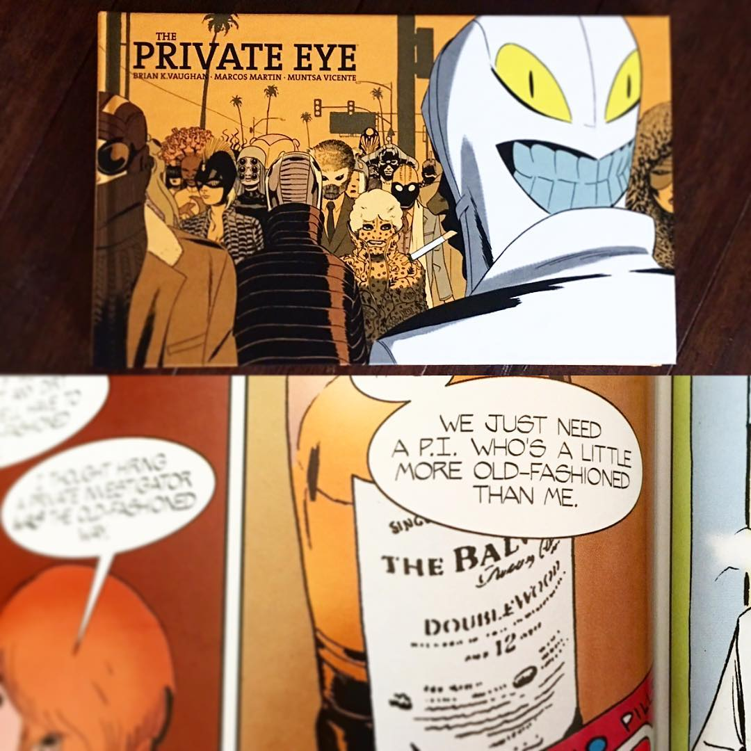 I love me some Brian K. Vaughan. Been reading one of his latest, The Private Eye, and came across this gem. Guess either he or Marcos Martin must be a fan! Anyways, cheers! Pick up this fantastic collection of you can. Awesome storytelling, art, and coloring! #theprivateeye #briankvaughan #distillerybanffshire #sınglemaltwhiskey #singlemaltscotch #balvenie #comics #comic #graphicnovel #imagecomics #balvenie12 #marcosmartin @imagecomics @balvenieus