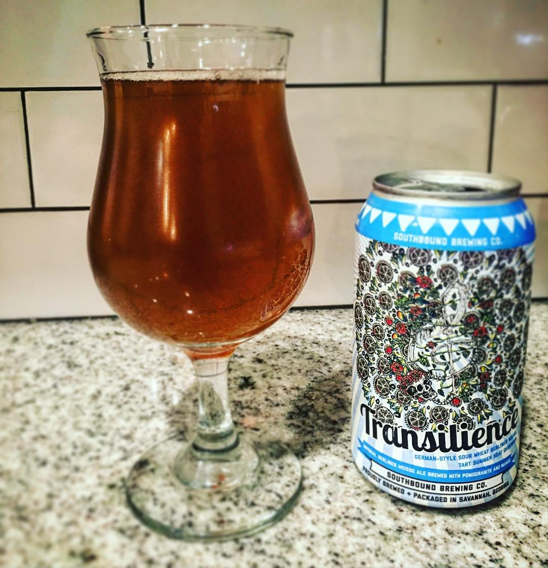 Ahhhh. Been waiting all year for this. Fruity and tart. Summer perfection... @southboundbrews @sav_brewmaster #transilience #bowtiebarbecueco #southboundbrewery #southboundbeer #beer #brewery #berlinerweisse