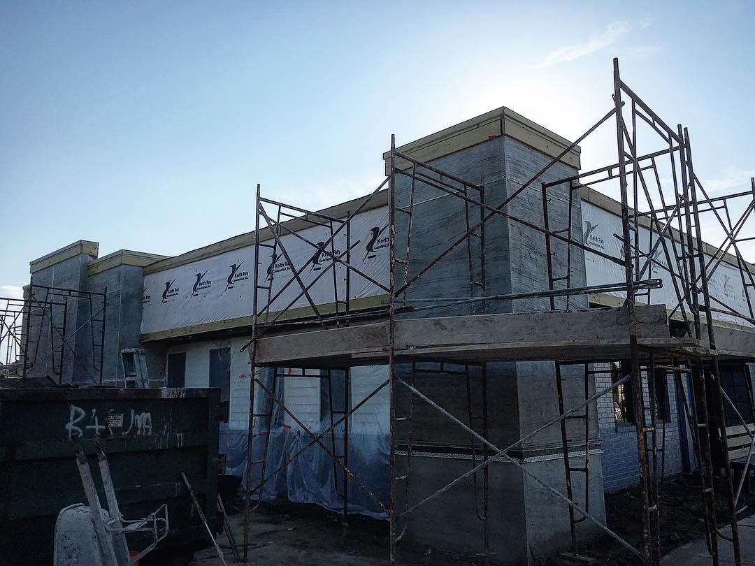We've got stucco going on this week (hoping to finish...