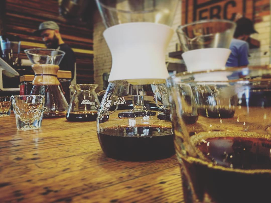 Had a nice coffee tasting at PERC Coffee Roasters today....
