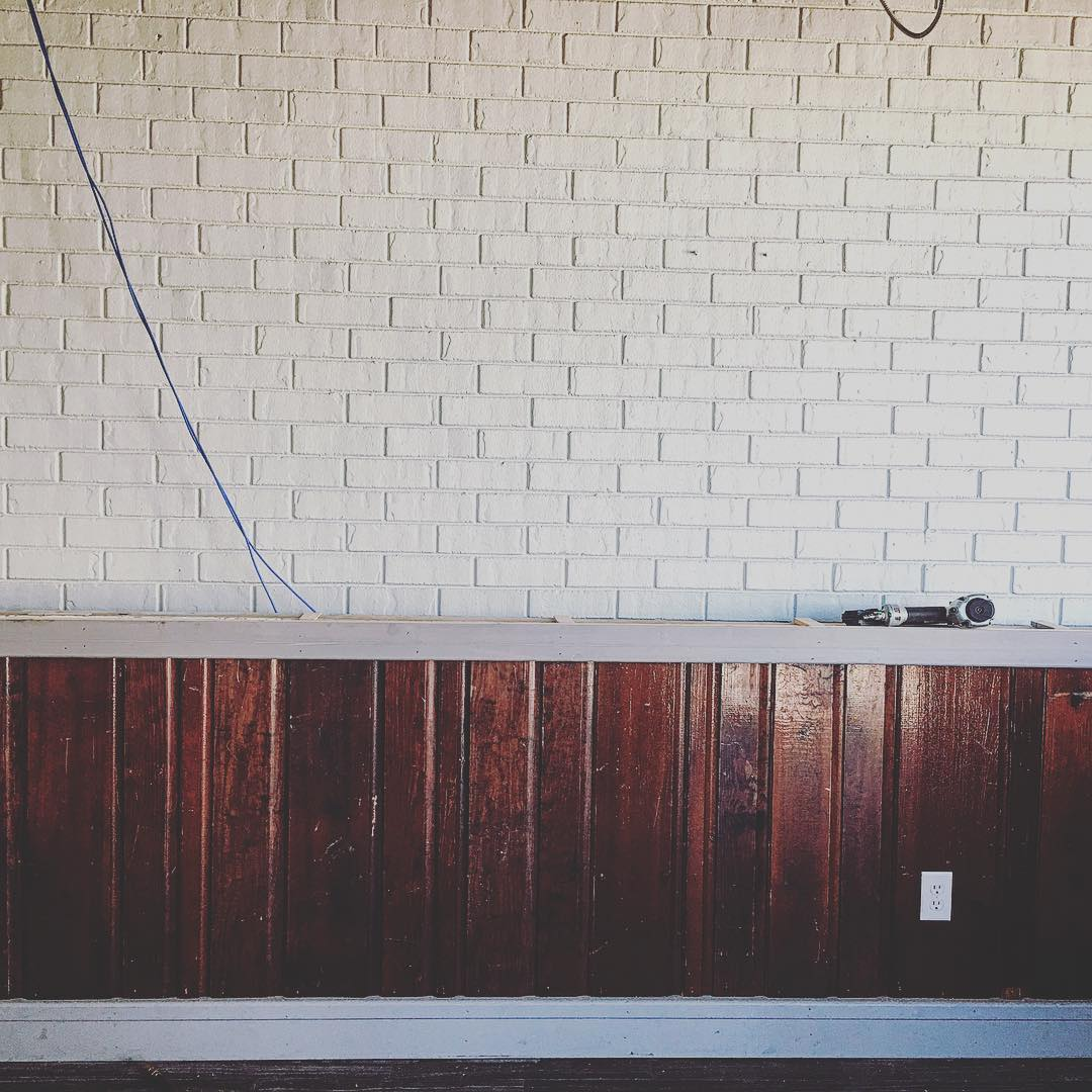 Little sneak peak of the bar. Coming together! But of...