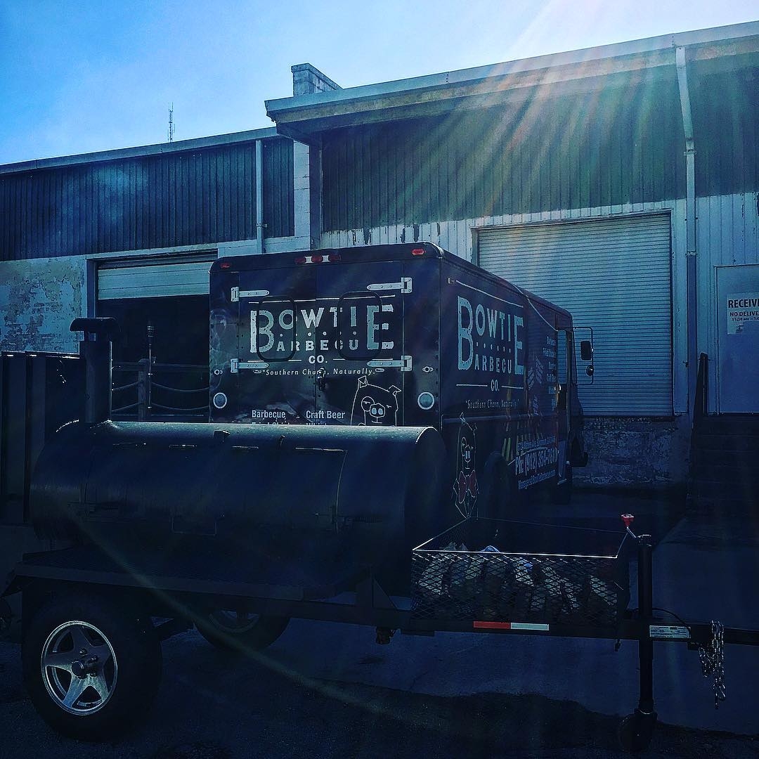 We're out slinging some smoked wings and pork sammys at...