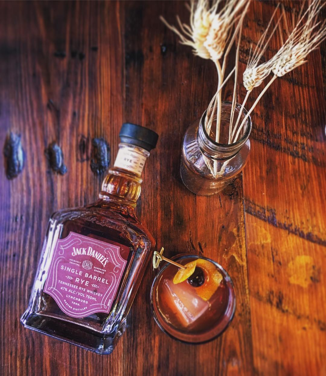 Jack Daniel's Single Barrel Rye… pretty tasty old fashioned @savwhiskeysipper…
