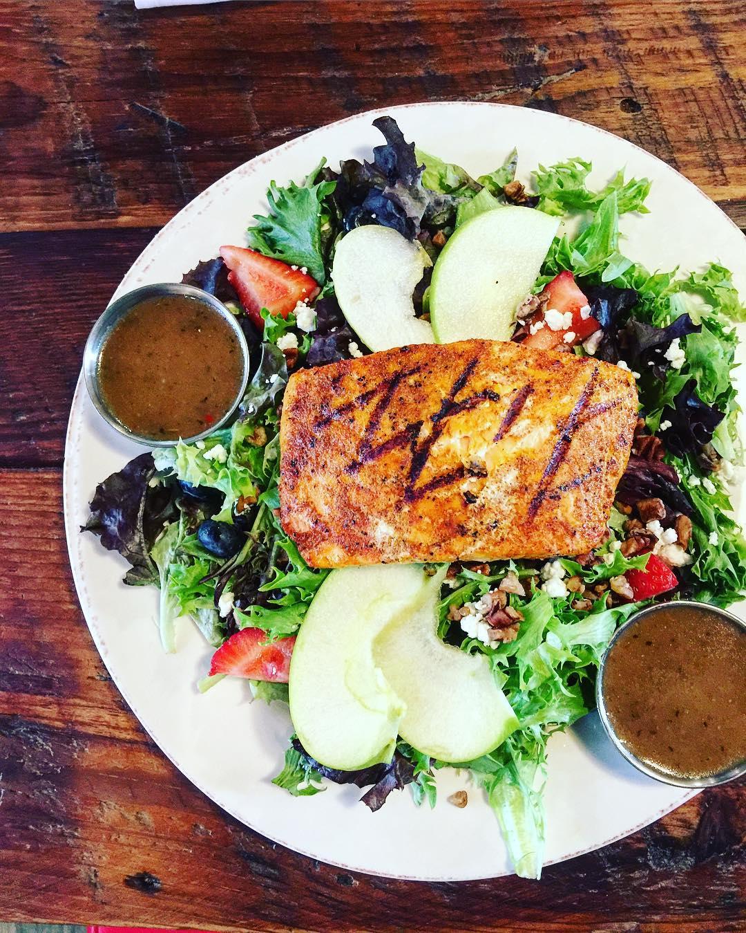 Smoked Salmon. BowTie Salad. Boom