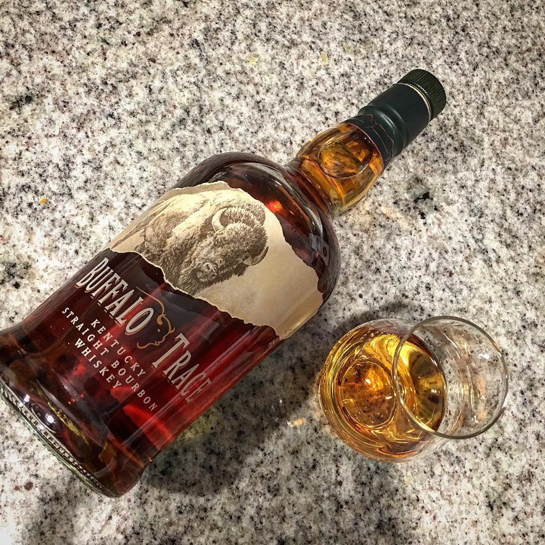 A little something to cheer us up on this rainy night. Well, this and Blazing Saddles. @buffalotracedistillery @buffalotrace #buffalotrace #bourbon #kentucky #whiskey #kentuckybourbon #kentuckystraightbourbonwhiskey #whisky #bowtiesarecool #bowtiebarbecueco
