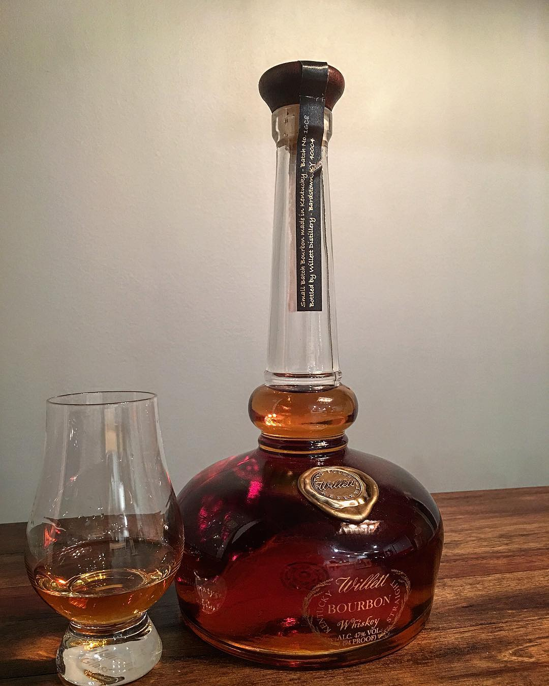 Breaking out the Willet Pot Still Reserve. Not only an...