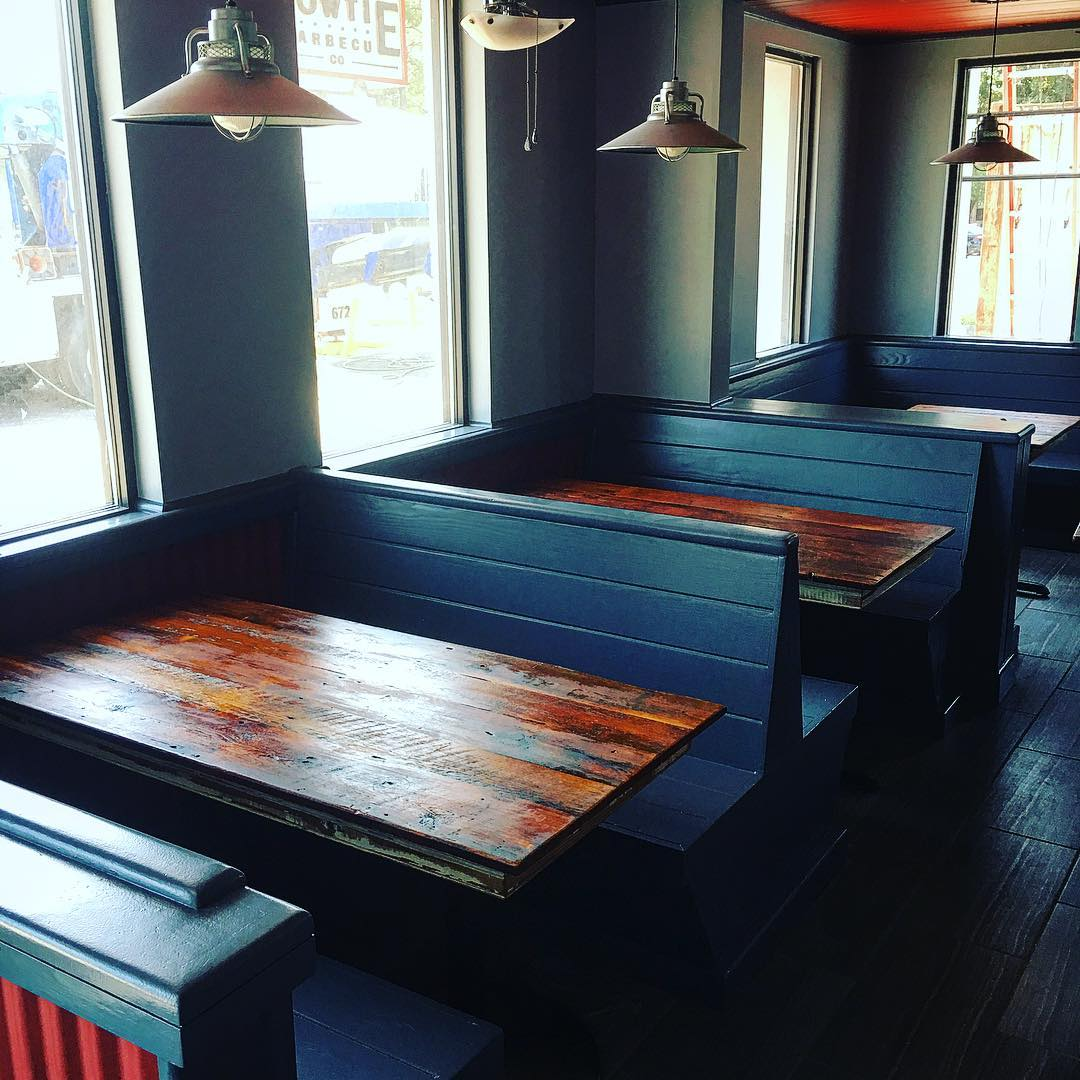 Wow! Lookin sharp! Just got our tables in today. HUGE...