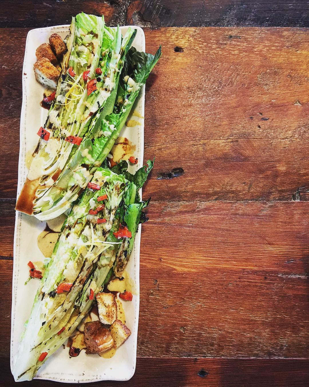 New Menu Sneak Peek #3: Grilled Romaine Caesar.