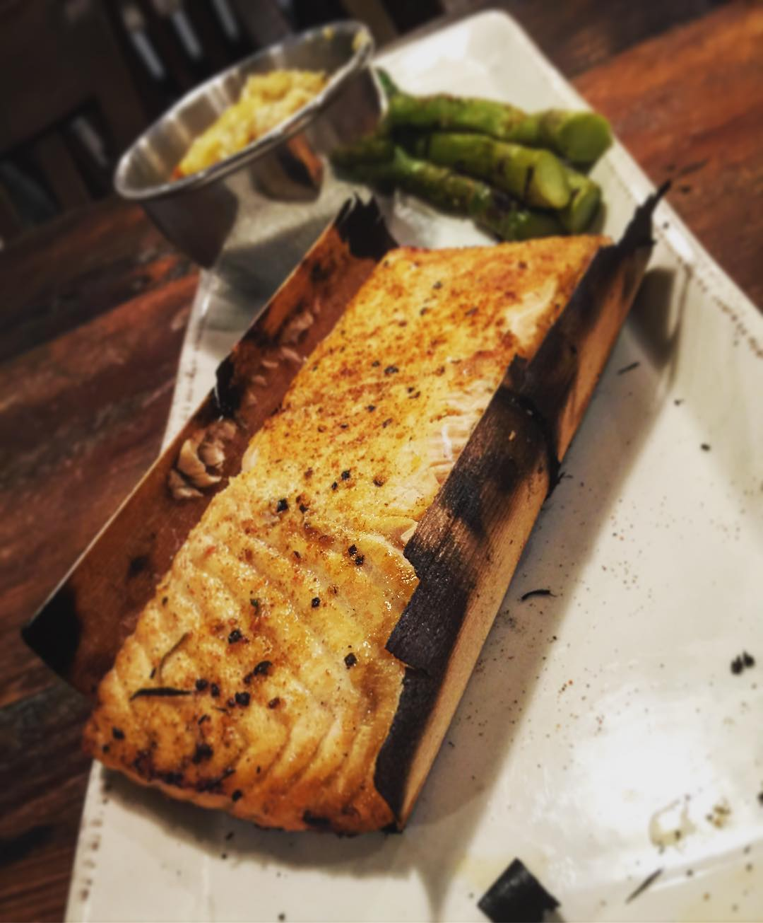 New Menu Sneak Peek #4: Cedar Wrapped Smoked Salmon (pictured…