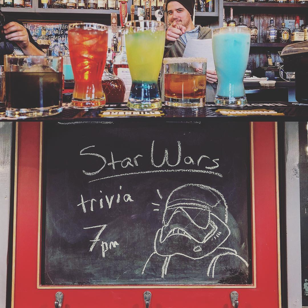 Happening tonight folks! Star Wars Trivia! We've got Blue Eggnog…